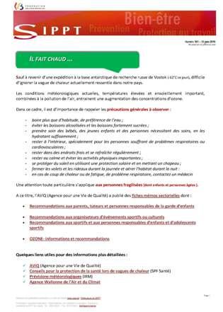 Sippt Lettres Hygiène Publications Du Sécurité Et D'informations QdsChtr